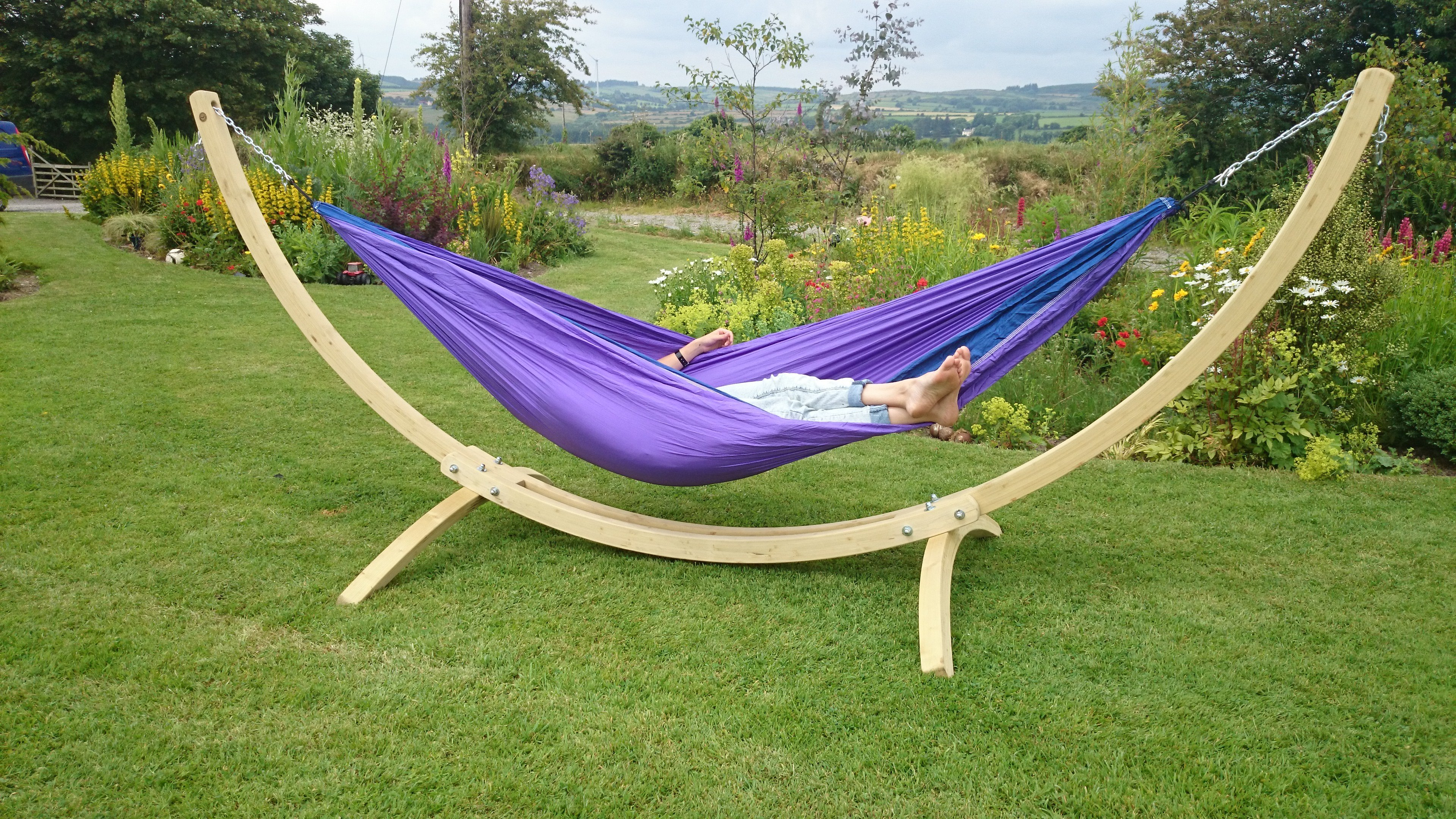 hammocks and outdoor lounging you canopies backyard pin for garden relax within up your required to range hammock more no the two trees anywhere a framed frees in spaces hosta version daybeds